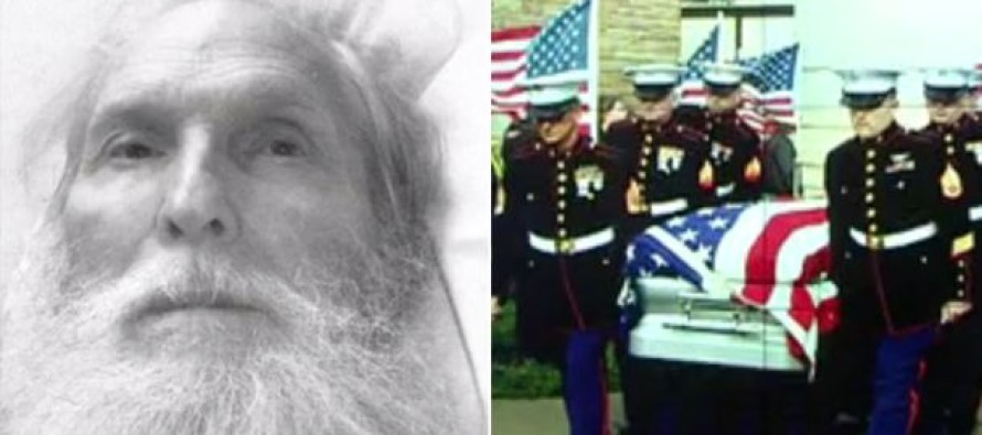 Heartwarming: More than 1,000 people show up for funeral of veteran with no family