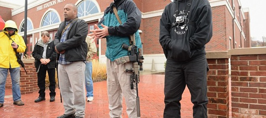 Pro-Gun Activists Walk With Rifles Through Ferguson, Telling Residents To Arm Themselves