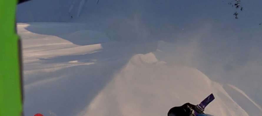 VIDEO: The Terrifying Moment a Skier Survives 1,600 Feet Fall from Mountainside