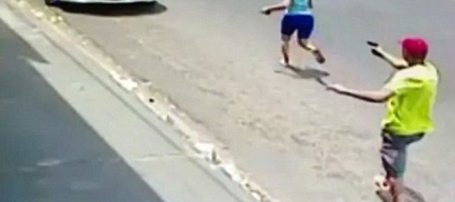 Horrifying Moment Brazilian Police Officer Shoots His Wife 11 Times In Broad Daylight