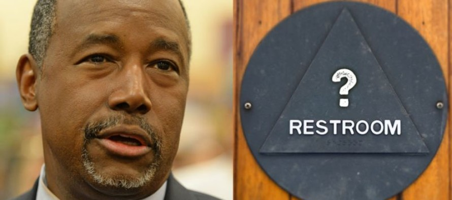 Video: Carson Reveals Solution For Transgender Bathrooms, Libs Accuse Him Of THIS