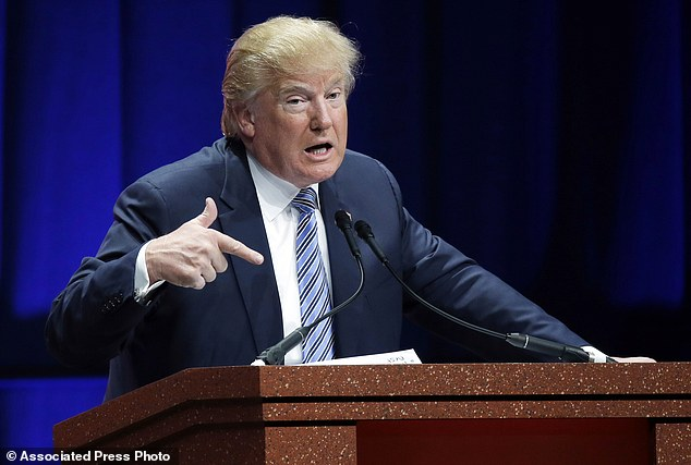 Republican presidential candidate Donald Trump addresses the Sunshine Summit in Orlando, Fla., Friday, Nov. 13, 2015. (AP Photo/John Raoux)