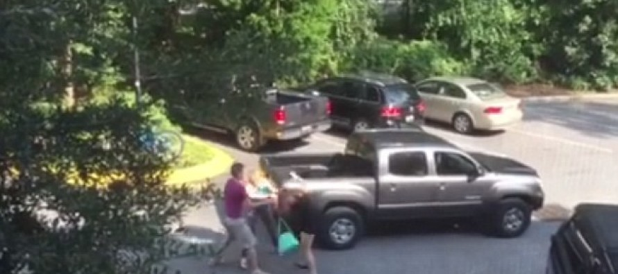 Shocking Video Shows Two Mothers Viciously Brawling, Pulling Each Other's Hair Out