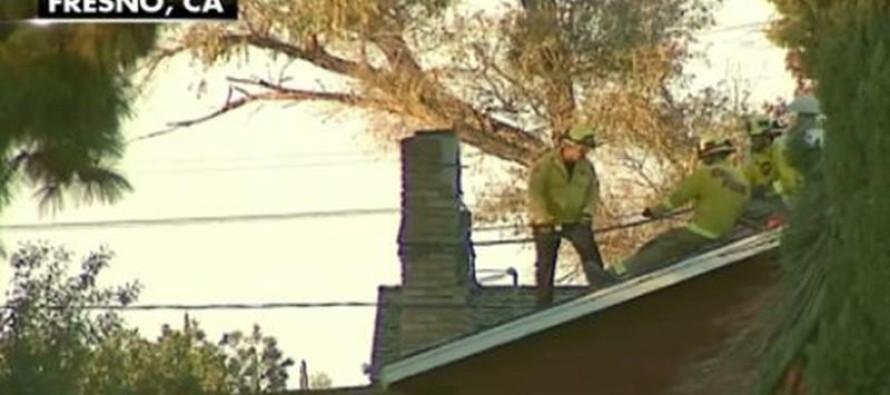 Homeowner Lights Fire Not Realizing Burglar is STUCK in Chimney