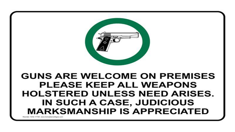 guns allowed