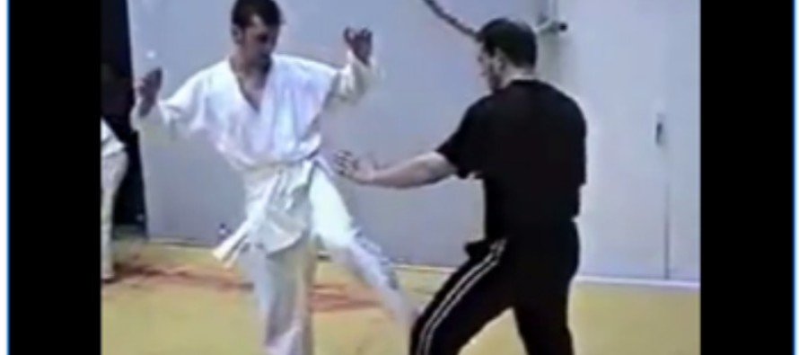 VIDEO: Karate Teacher Teaches Man Painful Lesson in Humility