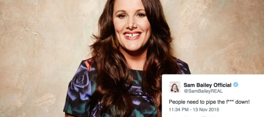 X Factor Winner Sam Bailey Causes A Stir With Tweet Saying the Obvious About The Paris Attacks