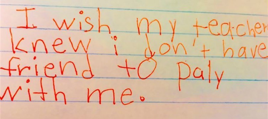 VIDEO: Teacher's Assignment Amasses Heartbreaking Responses From Students