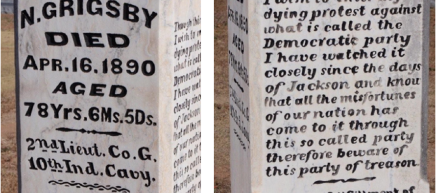 """This 124 Year Old """"Grave"""" Warning About Democrats is Eerily Accurate Today"""