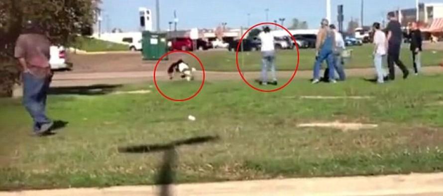 VIDEO: Woman Opens Fire At Purse Snatcher Outside Of Walmart