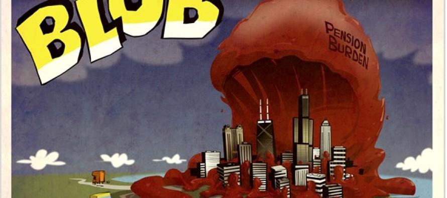 ILLINOIS public pension blob (Cartoon)