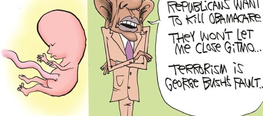 Obama's A Baby (Cartoon)