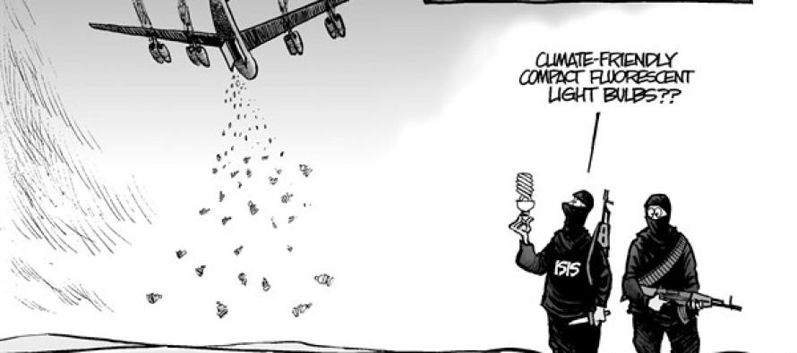 Obama Bombs (Cartoon)