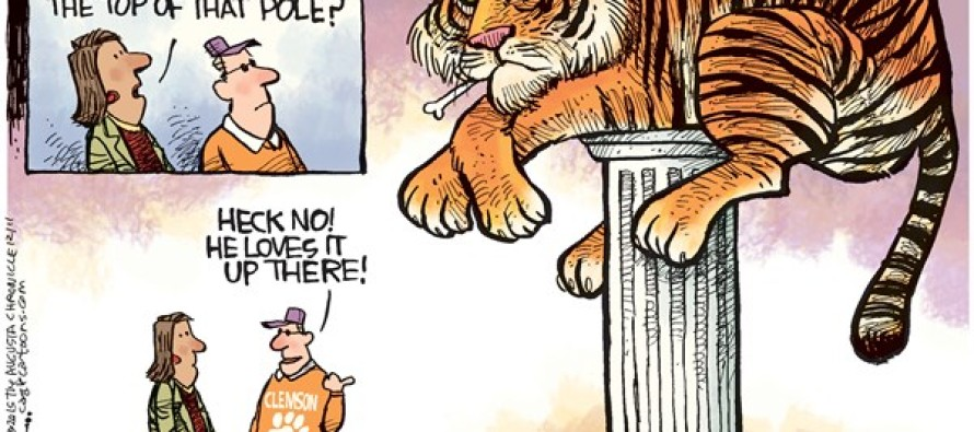 Clemson On Top (Cartoon)