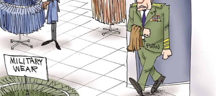 Putin's Dressing Room (Cartoon)