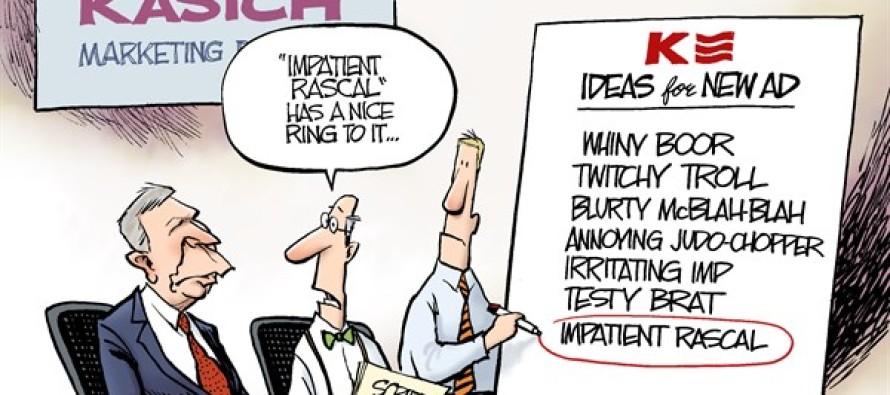 Selling Kasich (Cartoon)