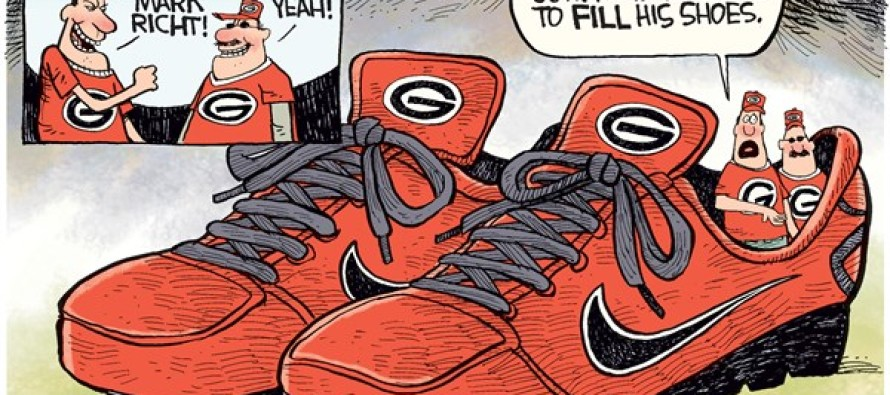 Mark Richt Fired LOCAL (Cartoon)