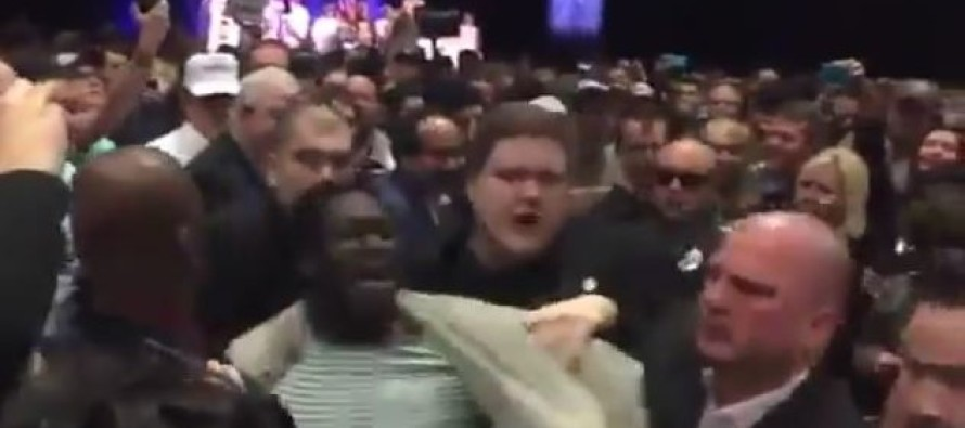 Race Rioting Thug Acts Out at Trump Event… Gets a NASTY Surprise!