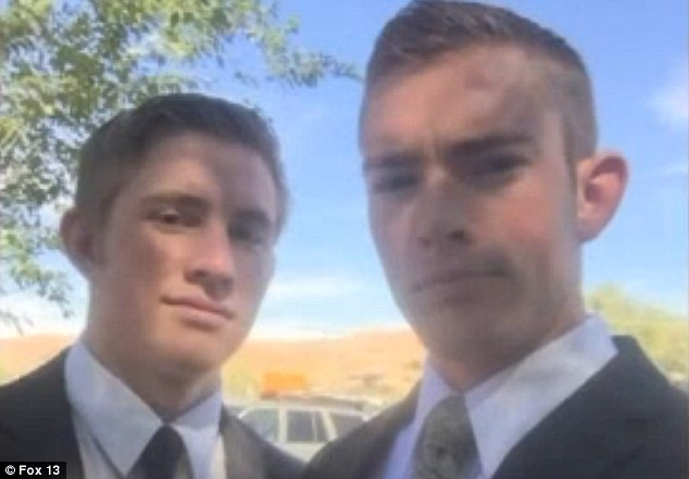 Caleb Shumway (right) and his brother Jarom (left) decided to spend their recent holiday break searching for new evidence in a 2010 shooting.