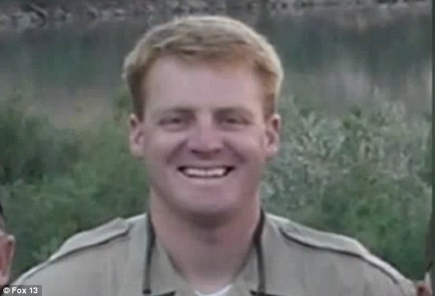 Victim: Lane Leeroy Arellano allegedly shot State Park Ranger Brody Young (above) nine times in November 2010 at a trail in Moab, Utah.