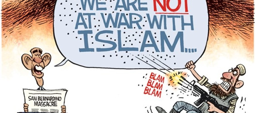 OBAMA ISLAM WAR (Cartoon)