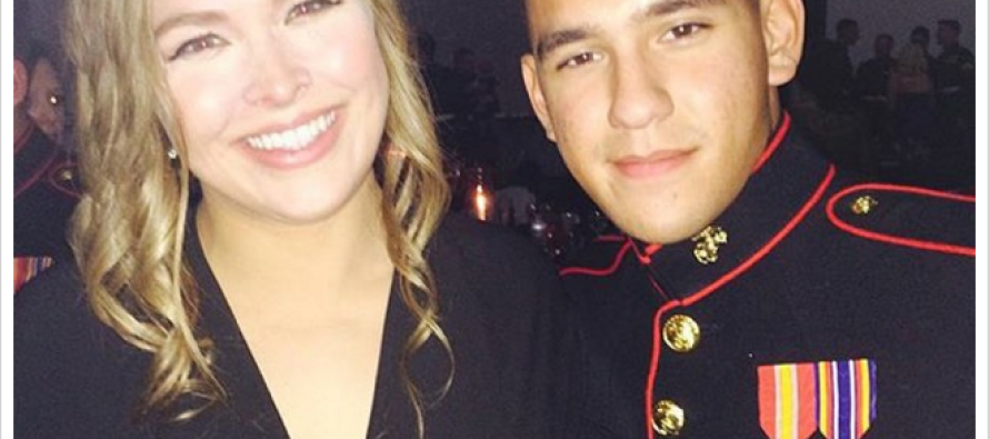 Belle of the Marine Corps Ball… Rhonda Rousey Keeps Her Promise