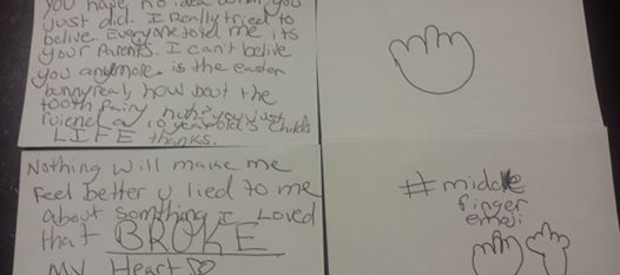 10-year-old who found out Santa isn't real goes off on parents in note