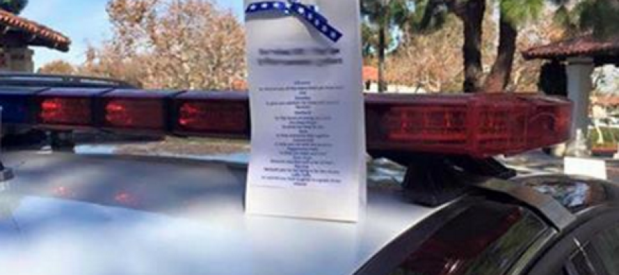 Cop Finds Suspicious Bag on Top of Patrol Car. When He Looks Inside? OMG
