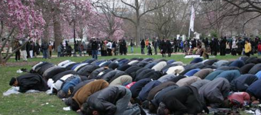 Pissed Off State Worker Confronts Praying Muslims in Park – Watch What Happens Next