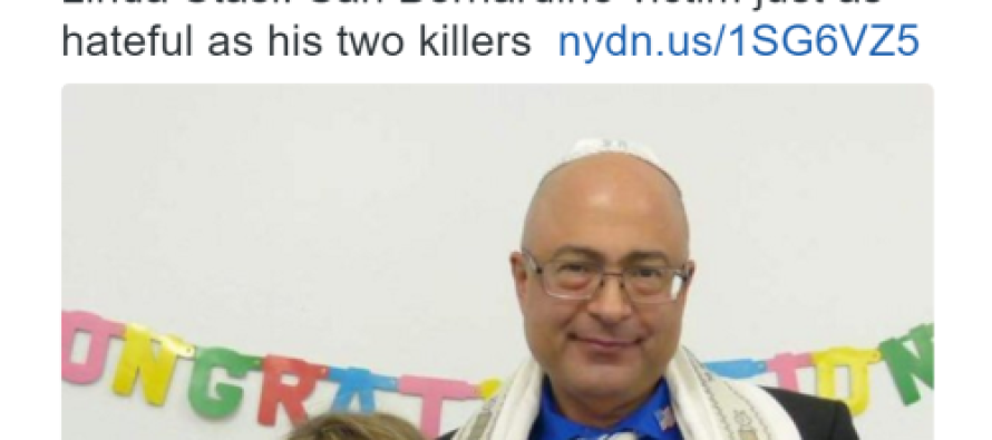 NY Daily News Says Offensively, That San Bernardino Victim Just As Hateful As His Killers