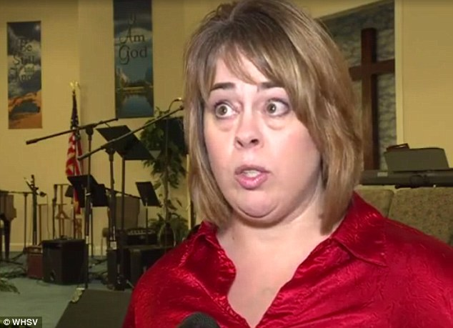 Infuriated parent: Kimberly Herndon, whose son is in the world geography class, accused his social studies teacher of indoctrinating students into the Islamic faith.
