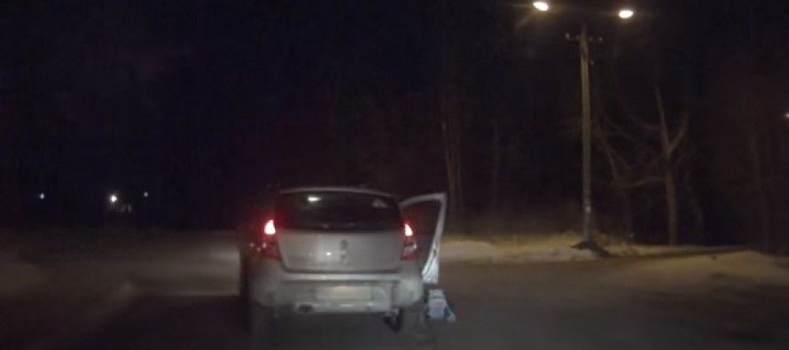 Baby Falls Out of Moving Car. What Happens Next? OMG…