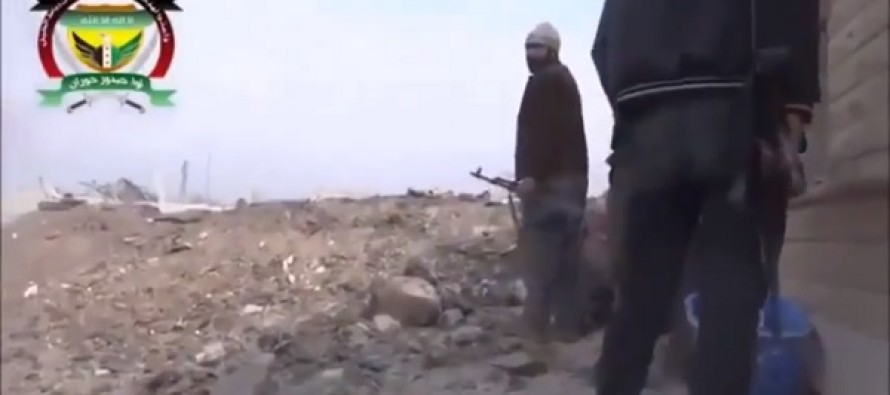 Terrorists Almost Get Their Heads Blown off by Mortar