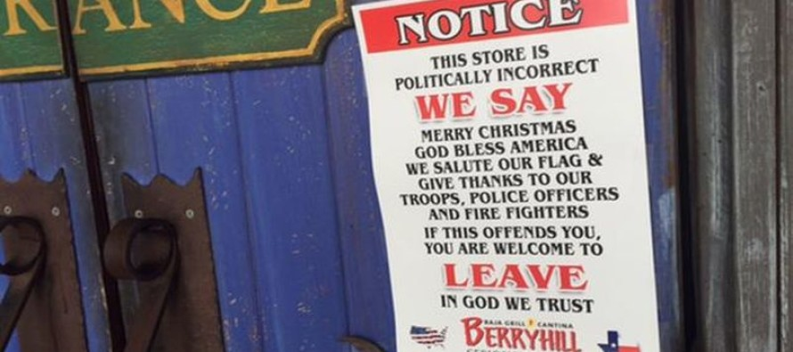 Anti-PC Signs Draw Attention At Popular Houston Restaurant [Watch]