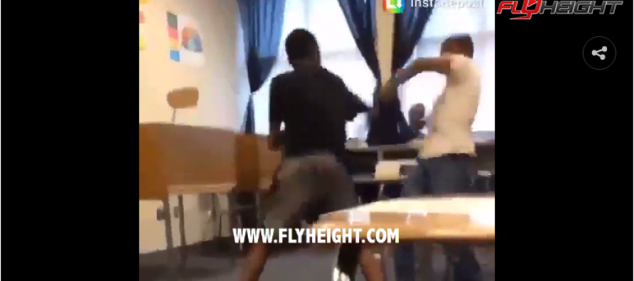 VIDEO: Bully Starts Fight After Class and Gets DESTROYED