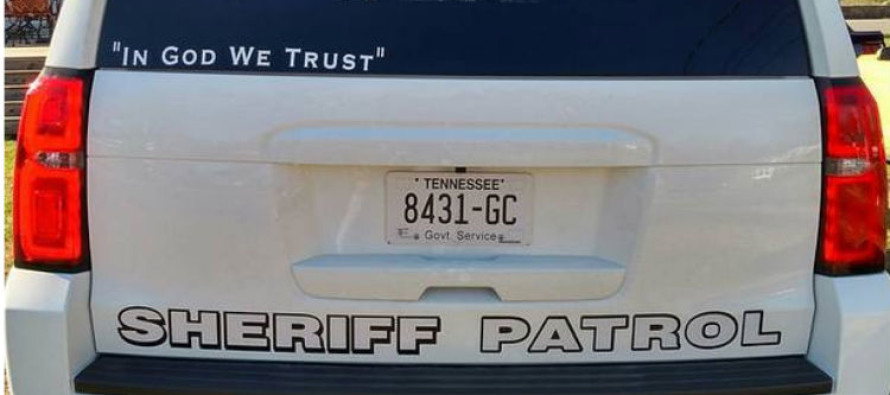 Cops in Tennessee Won the Right to Have 'In God We Trust' on Their Cars