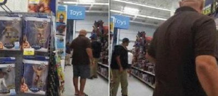 CREEPER Busted By Dad in Walmart After Taking Pictures of His Daughter [Watch]