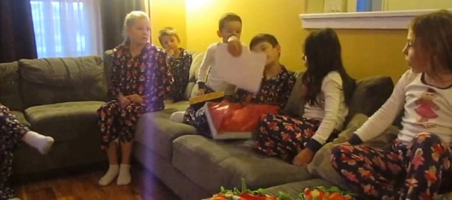 Heartwarming Moment Foster Children Open a Christmas Gift and Learn Their Fate (VIDEO)
