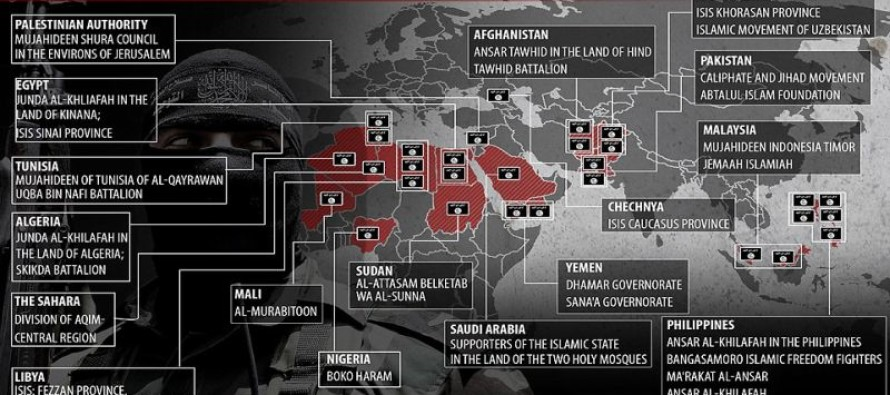 CHILLING: Graphic shows the terrifying spread of ISIS across the globe