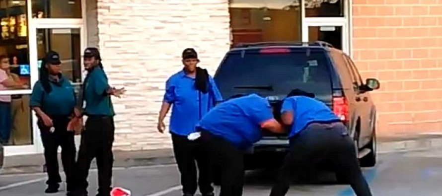 DINNER AND A SHOW: The McDonald's Employee Brawl Caught On Video By A Shocked Customer