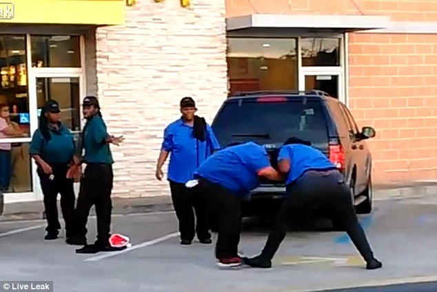 mcdonalds brawl
