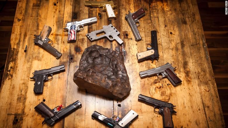 meteorite pistol