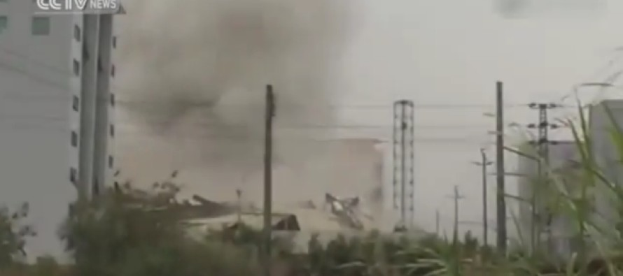 Terrifying footage shows moment landslide reduced four-story building to rubble in seconds in China