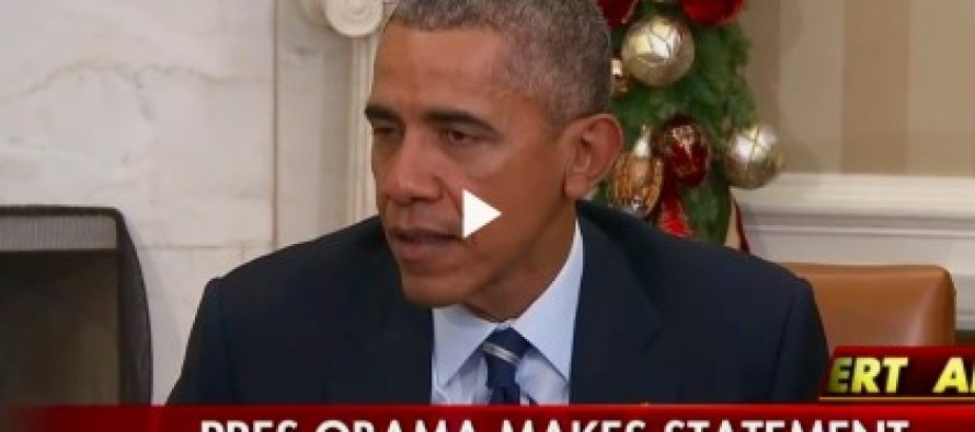Obama Says The San Bernardino Attack May Not Be Terrorism, It May Just Be….