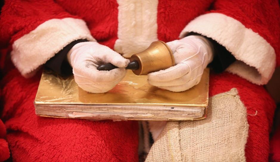 Volunteer Student Santas Prepare For Christmas Season