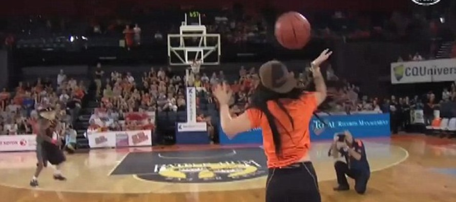 Is this the worst half-court shot in history?
