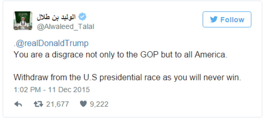 BREAKING: Saudi Prince Issues Bold Demand To Donald Trump, This Is Trump's Response