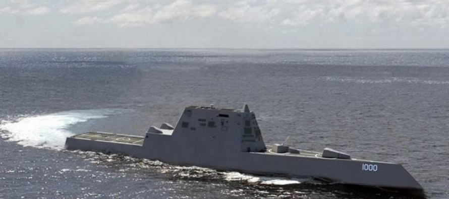 Watch the Navy's Largest Ever 'Stealth' Destroyer in Its First Sea Trials – And It Could Be the First to Be Outfitted With a RAILGUN