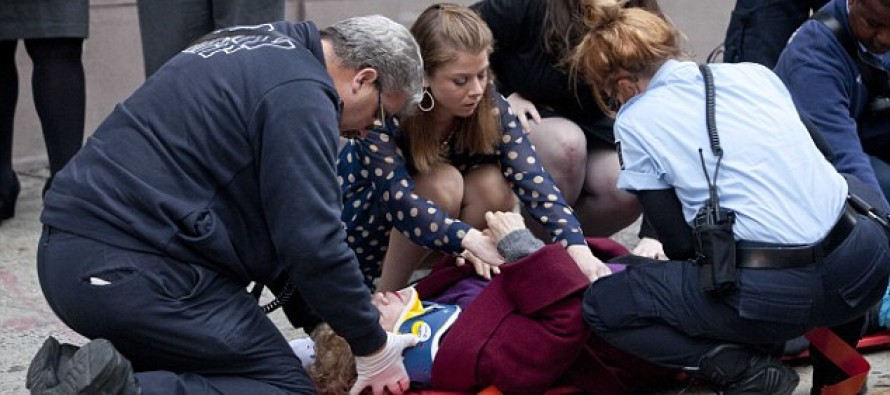 This woman was just minding her own business in New York when she was terribly hurt in a bizarre way