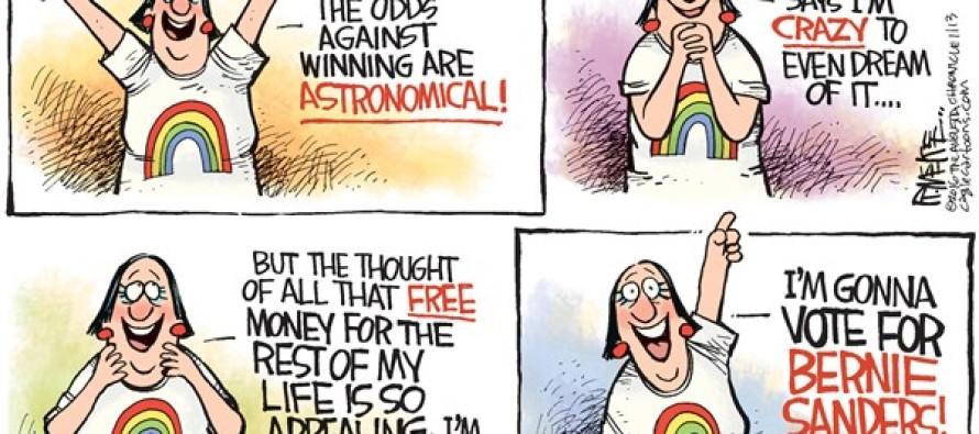 Powerball Bernie (Cartoon)
